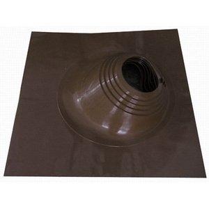 Кровельный проходник мастерфлеш силиконовый угловой коричневый №6