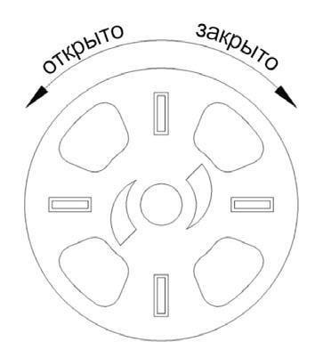 Принцип работы регулятора подачи воздуха на первичное горение